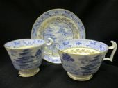 SOLD Spode London shaped  trio